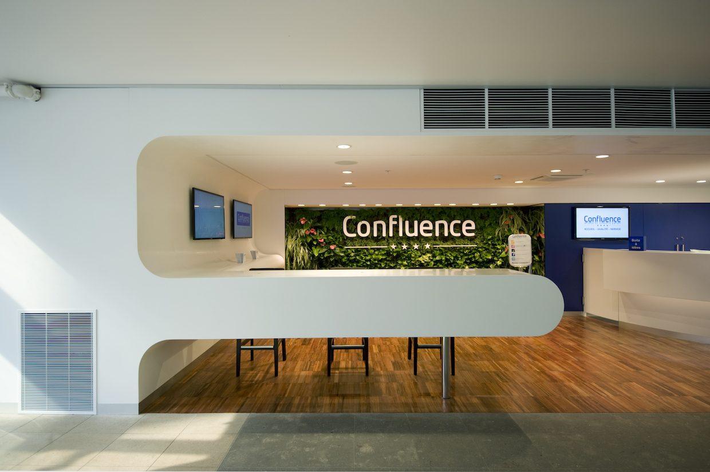 centre commercial confluence saga agencement